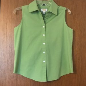 Talbots sleeveless button up blouse